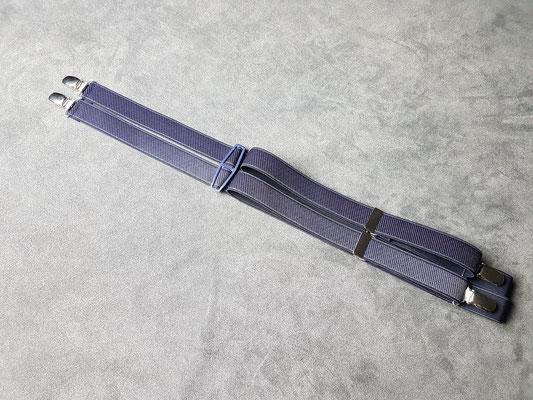 2.5 cm uni Hosenträger mit Plastikrücken