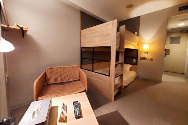 二段ベッドルーム