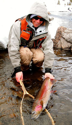 Fly Fishing in winter conditions can also bring the fish of a lifetime