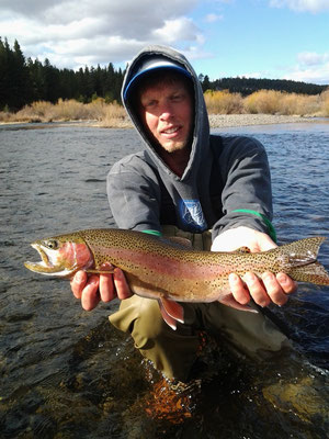 Little Truckee river client with a beautiful catch