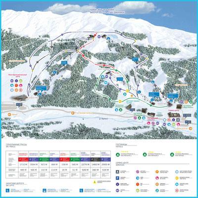 Карта Склонов Архыз