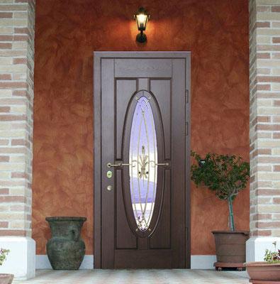 металлическая дверь со стеклом в Можайске.