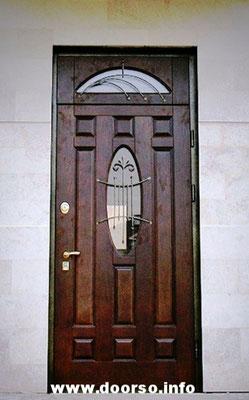 Нестандартная металлическая дверь на заказ.