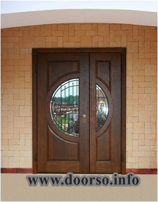 Металлическая дверь со стеклом сделанная на заказ Зеленоград.