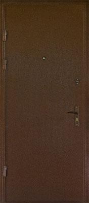 Металлические двери с порошковым напылением в городе Можайск.  Дверь серии ПН №6.