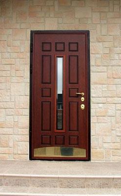 металлическая дверь со стеклом на заказ Можайск.
