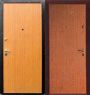 металлическая дверь ламинат + ламинат.