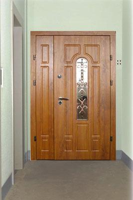 подъездные двери МДФ+стекло