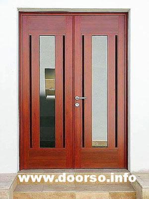 Двух полая дверь+стеклопакет.