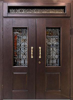 Двуполая металлические двери с терморазрывом в рузе дверь.