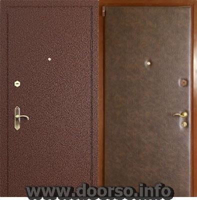 металлическая дверь порошок напыление + винил кожа.