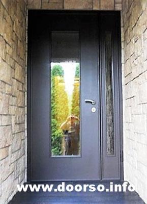 Металлическая дверь+стеклопакет.