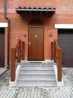 глухая дверь МДФ с арочной вставкой. Звенигород.