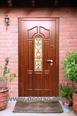 Ковка+стекло. Дверь в котедж  Зеленоград.