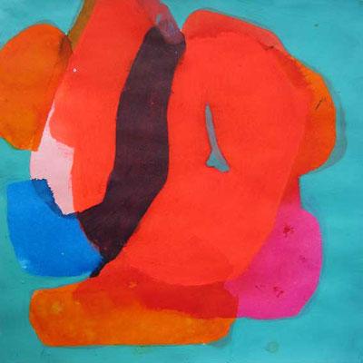 ohne Titel, Mischtechnik auf Papier, 15cm x 15cm, 2015