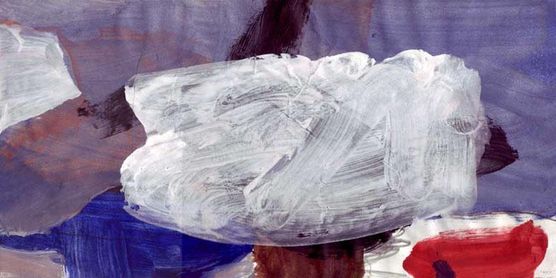 Wolke, Mischtechnik auf Papier, 20cm x 40cm, 2005