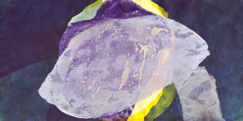 Wolkenmond, Mischtechnik auf Papier, 20cm x 40cm, 2008