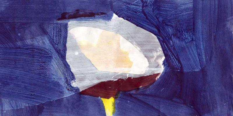 Mond, Mischtechnik auf Papier, 20cm x 40cm, 2005