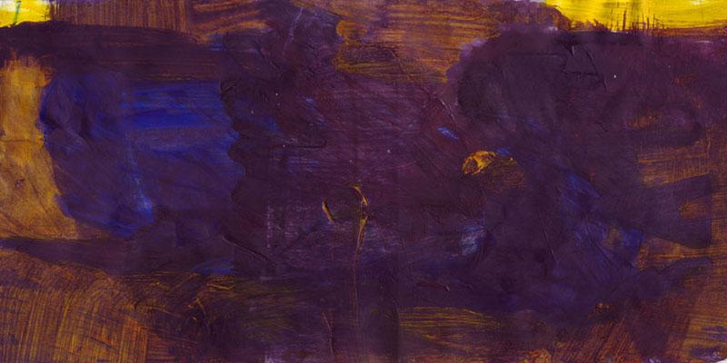 Nacht, Mischtechnik auf Papier, 20cm x 40cm, 2005