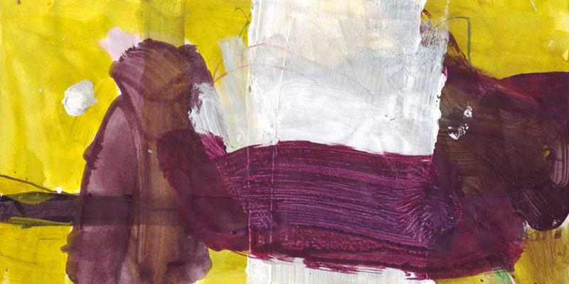 Land, Mischtechnik auf Papier, 20cm x 40cm, 2005