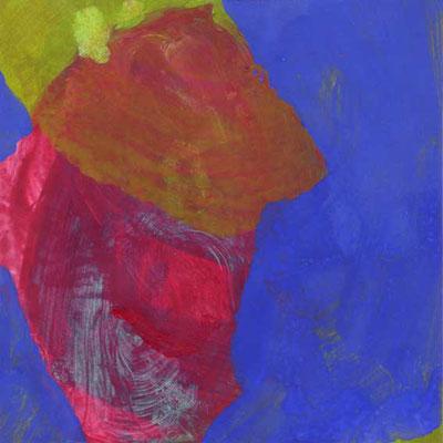 ohne Titel, Mischtechnik auf Papier, 15cm x 15cm, 2006