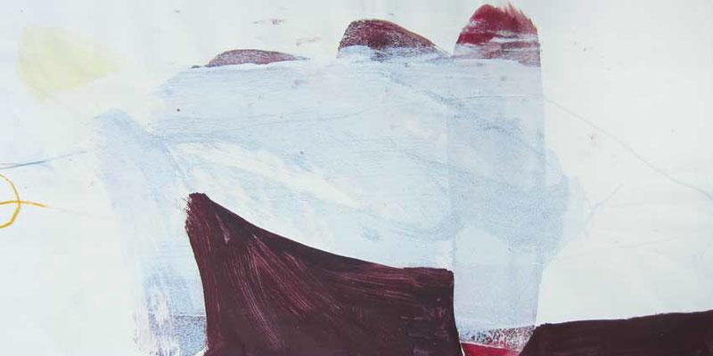 Schnee, Mischtechnik auf Papier, 20cm x 40cm, 2005
