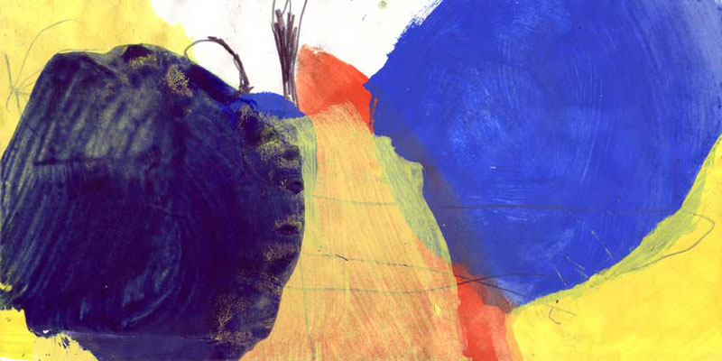 ohne Titel, Mischtechnik auf Papier, 20cm x 40cm, 2008