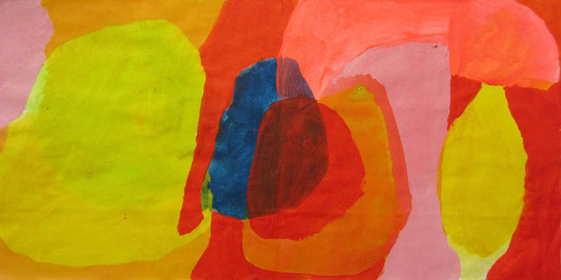 Rot, Mischtechnik auf Papier, 20cm x 40cm, 2008