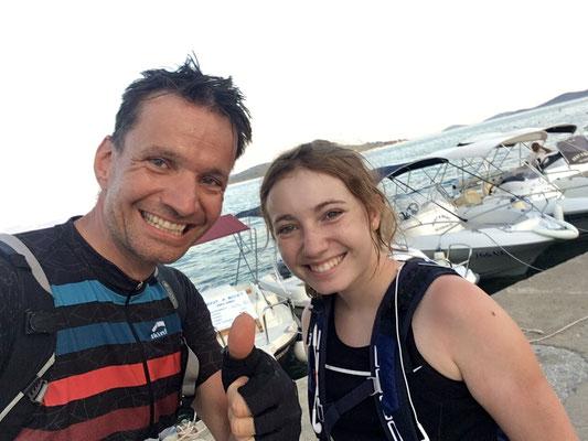 Geschafft  ! Nach über 500 km sind wir endlich am Meer.