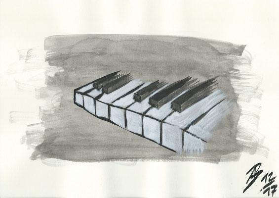 The Piano - 12/2017 - 21x29,7 cm - Aquarell auf 170g Skizzenpapier (in Privatbesitz)