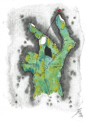 Pinhead - 06/2019 - 17x24 cm - Aquarell & Tinte auf 450g Aquarellpapier