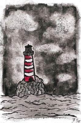 The Lighthouse - 01/2018 - 20x30 cm - Aquarell auf Malkarton (in Privatbesitz)