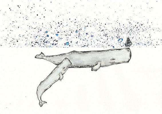 The Concealment - 09/2018 - 21x29,7 cm - Aquarell auf 170g Skizzenpapier (in Privatbesitz)