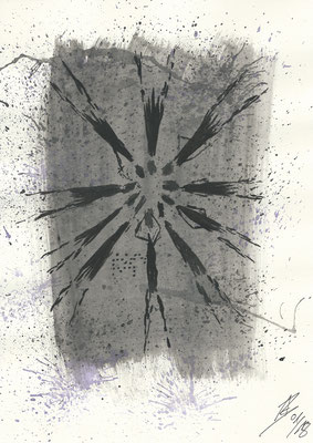 On the Floor - 01/2018 - 21x29,7 cm - Aquarell auf 170g Skizzenpapier (in Privatbesitz)