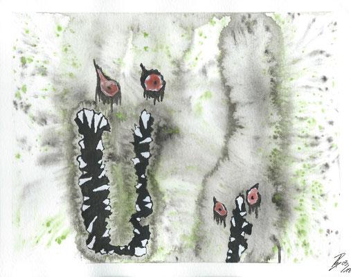 My Anger - 03/2018 - 19x24 cm - Aquarell auf 300g Aquarellpapier