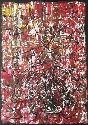 MIC I (My Inner Conflict) - 08/2019 - 50x70 cm - Acryl auf Leinwand