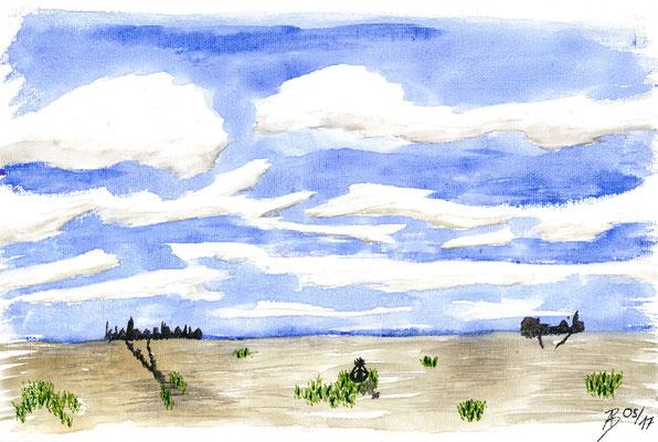The Clouds - 05/2017 - 20x30 cm - Aquarell auf Malkarton