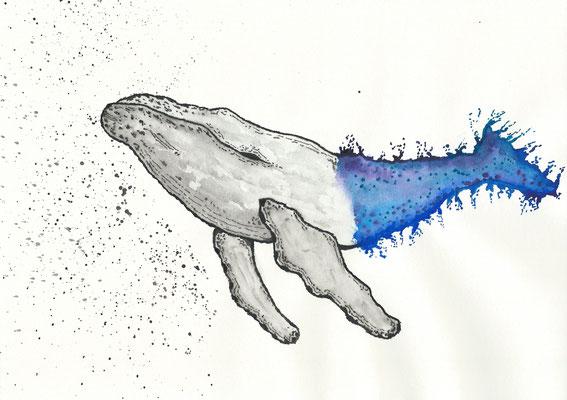 The Refulgence - 09/2018 - 21x29,7 cm - Aquarell auf 170g Skizzenpapier