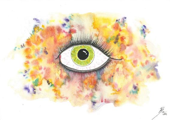 art of color - 04/2019 - 21x29,7 cm - Aquarell & Tinte auf 150g Aquarellpapier