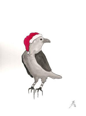 Christmas Bird - 10/2018 - 24x32 cm - Aquarell auf 325g Aquarellpapier