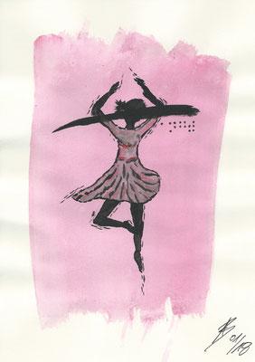 The Ballerina - 01/2018 - 21x29,7 cm - Aquarell auf 170g Skizzenpapier (in Privatbesitz)