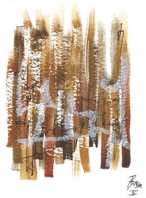 Dinky IX - 08/2019 - 10,5x15,5 cm - Aquarell, Tinte & Ölpastell auf 300g Aquarellpapier