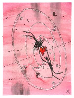 The Circle of Life - 06/2019 - 24x32 cm - Aquarell & Tinte auf 300g Aquarellpapier
