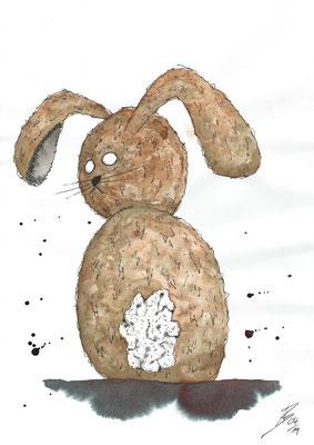 Easter Bunny - 04/2019 - 21x29,7 cm - Aquarell & Tinte auf 150g Aquarellpapier