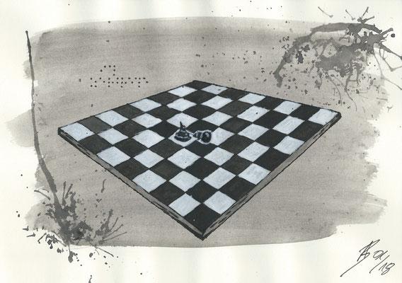 The Gamble - 01/2018 - 21x29,7 cm - Aquarell auf 170g Skizzenpapier (in Privatbesitz)