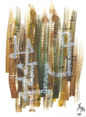 Dinky IV - 08/2019 - 10,5x15,5 cm - Aquarell, Tinte & Ölpastell auf 300g Aquarellpapier