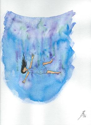 Human Right - 03/2019 - 24x32 cm - Aquarell & Tinte auf 300g Aquarellpapier