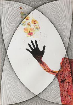 Pretend Friend - 04/2019 - 70x100 cm - Aquarell & Tinte auf 250g Aquarellpapier