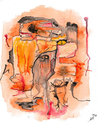 Is there a sense? - 09/2015 - 24x30 cm - Aquarell auf Malkarton (in Privatbesitz)
