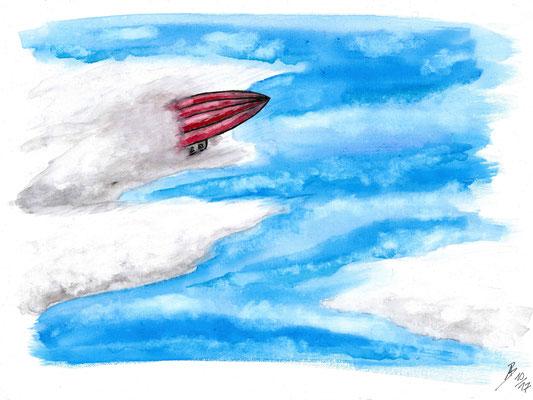 The Zeppelin - 10/2017 - 30x40 cm - Aquarell auf Malkarton (in Privatbesitz)